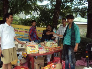 Sewa Bharati Flood Relief Activity